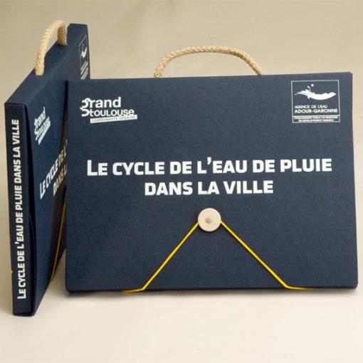 Valisette A4 en carton recyclé MADE IN FRANCE