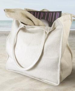 Grand sac shopping en coton recyclé
