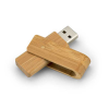 Clé USB écologique pivotante en bambou
