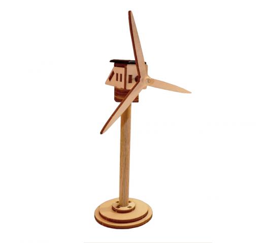 Éolienne solaire en bois à construire