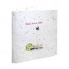 Carte de vœux personnalisée biodégradable avec graines à planter