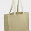 Grand sac shopping publicitaire écologique en jute et fibres de coton