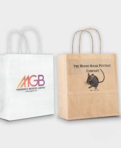Sac shopping publicitaire écologique 100% papier durable petit format