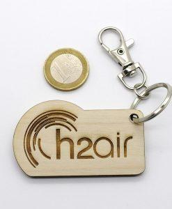 Porte clés bois Goodies écologique ARBRE A BULLES