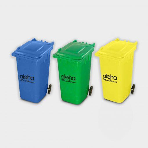 Pot à crayons en forme de container de tri en plastiques recyclés ARBRE A BULLES