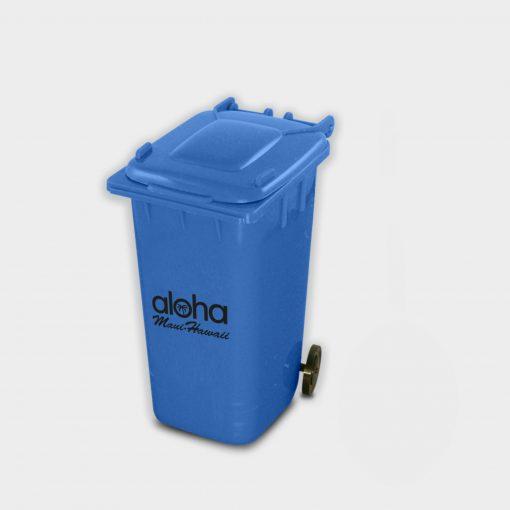 Pot à crayon en forme de container de tri en plastiques recyclés ARBRE A BULLES