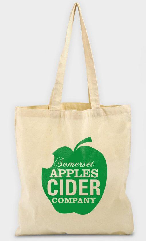 Sac shopping publicitaire écologique 100% coton naturel 170 g/m2 tote bag