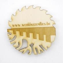 Sous boc sous verre en bois certifié durable avec gravure logo ARBRE A BULLES