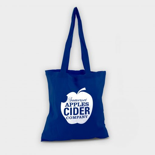 Sac shopping totebag écologique ARBRE A BULLES bleu