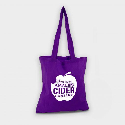 Sac shopping totebag écologique ARBRE A BULLES violet