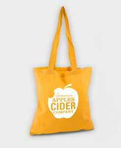 Sac shopping totebag écologique ARBRE A BULLES orange