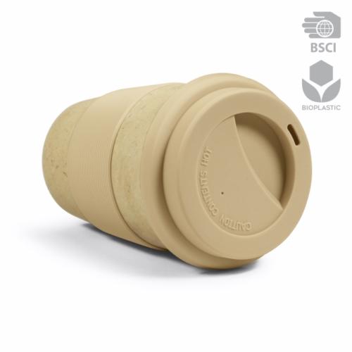 Mug isotherme composite en bioplastique à base d'écorce de riz