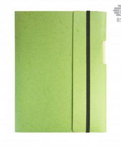 Carnet de notes A5 écoresponsable carton et papier recyclé avec stylo bille