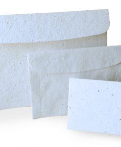 Enveloppe biodégradable en tapis de graines