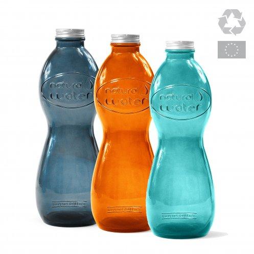 Bouteille de bureau écologique en verre recyclé